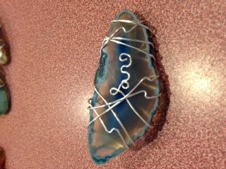 Wire Wrapped Agate Gem Hair Clip by GemWrapandCoasters on Etsy, $15.00