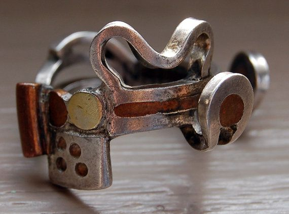 Magnificent Contemporary Studio Ring - Sterling - 22k - Copper - Handmade - Ultra Cool - Modern -