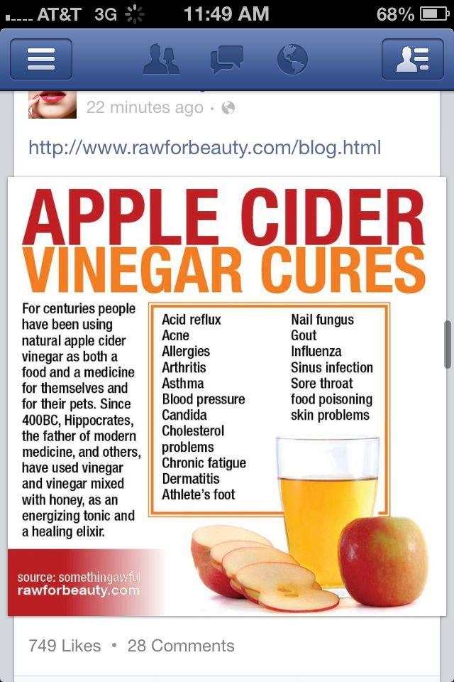 Apple Cider Vinegar Cures Rawforbeauty Pinterest