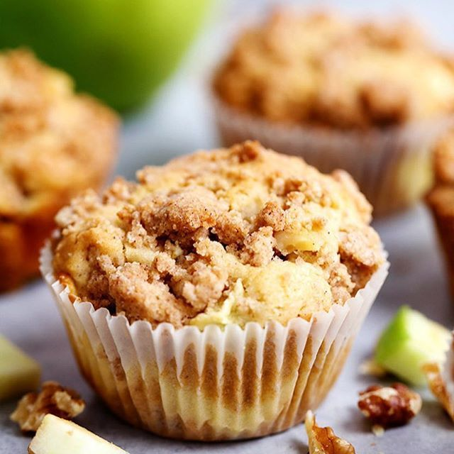 These Apple Cream Cheese Crumb Muffins are the perfect fallhellip