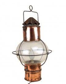 Koperen scheepslamp, vintage van DHR.