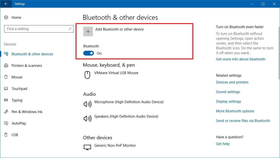 Windows 10 How To Change The Bluetooth Name Settings App