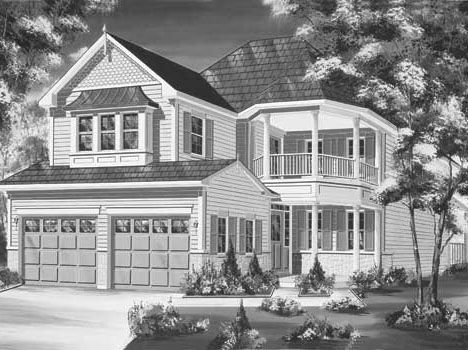 Builder's presentatiion picture of my 1998 new Victorian
