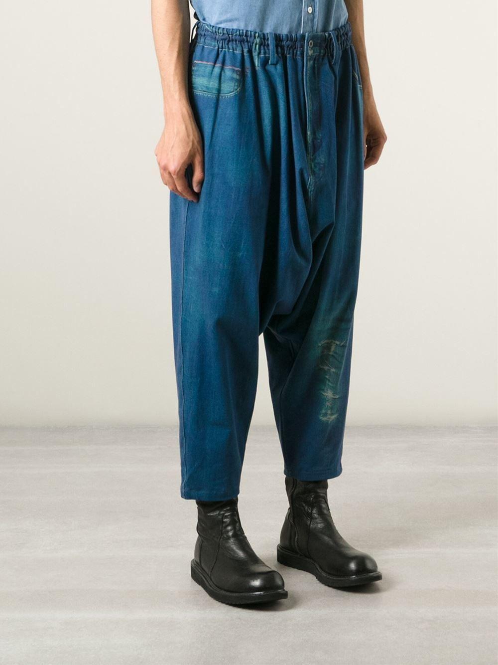 drop-crotch tracksuit trousers - Blue Yohji Yamamoto Best Wholesale Cheap Online Best Wholesale Online To Buy Sv17ZS1zw