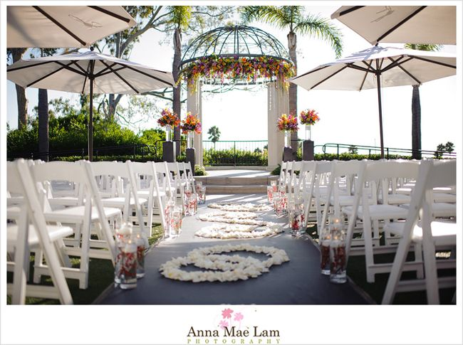 Stunning #ceremony setup for a fall wedding, in Newport Beach