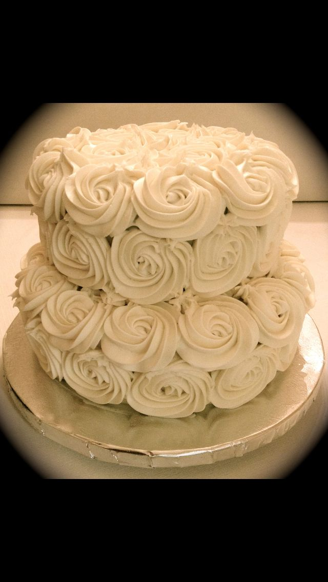 Rosette Cake. Two tiered simple wedding cake | Tina\'s Yummies Bakery ...