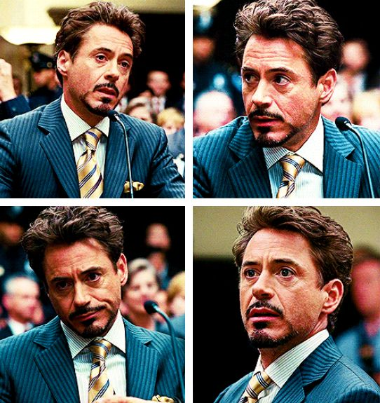 """This scene (in """"IM2"""") is so great because Tony knows he's ill, but he keeps up the arrogance and bravado, but there's so much sadness underneath it - and if anyone tells me Tony is just an arrogant SOB and that's all there is to him, I will debate you till the end of time."""