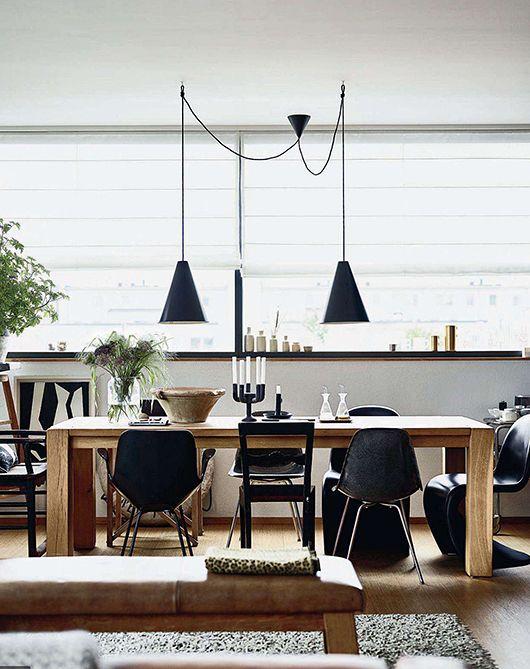 the september issue trendenser interiors pinterest lampen esszimmer und wohn esszimmer. Black Bedroom Furniture Sets. Home Design Ideas