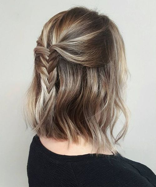 13 Of The Outstanding Half Braids Shoulder Length Hairstyles 2019 For Women Thick Hair Styles Braids For Short Hair Hair Lengths