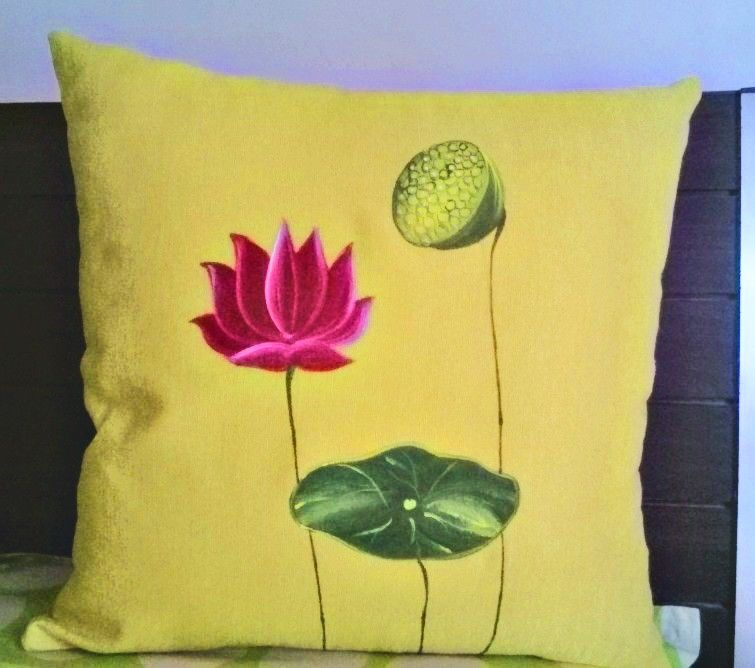 Hand Painted Cushion Cover Art Work By 'shruhiarts' Pinterest Magnificent Hand Painted Pillow Covers