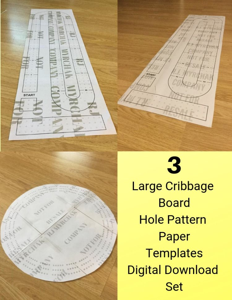 Make Your Own Large Cribbage Board Or Table With These Paper Templates