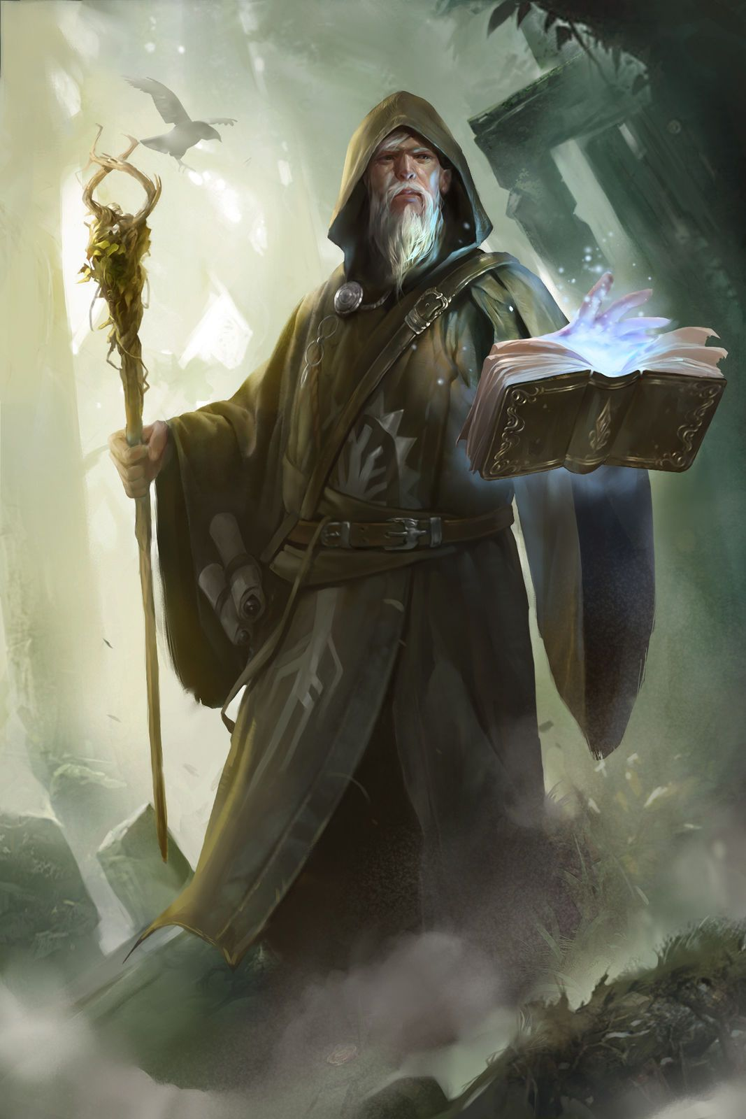 Wizard staff spellbook tome magic | Neat Art | Pinterest | Arte