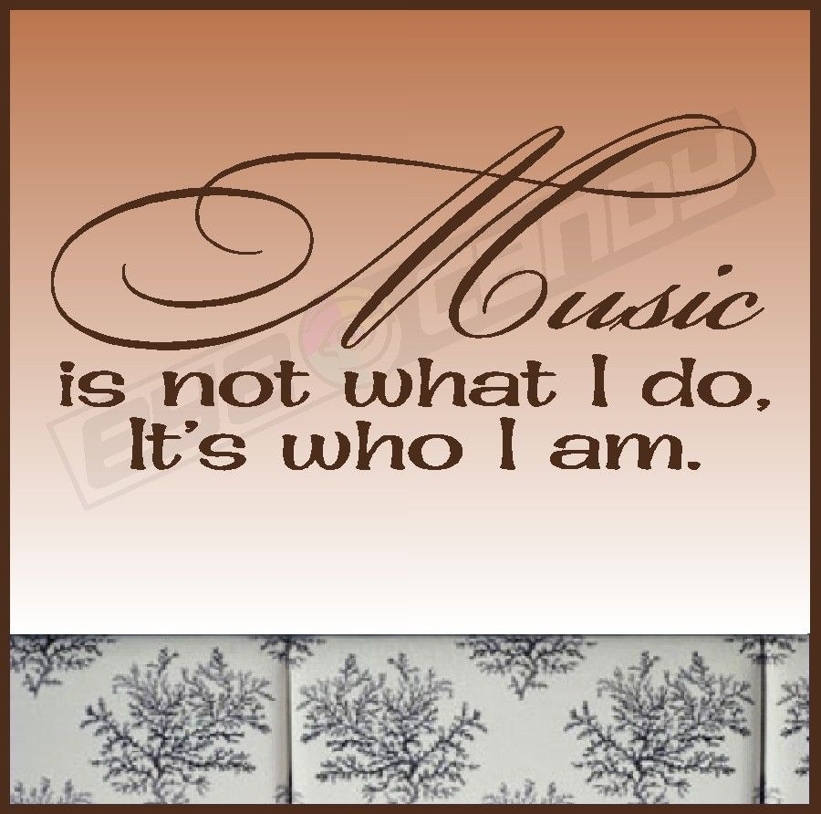 Music Wall Words Quotes Sayings Lettering Art via Etsy this is my fave quote