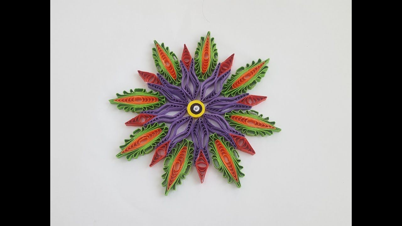 How To Make Paper Quilling Flowers With Comb By Art Life Paper