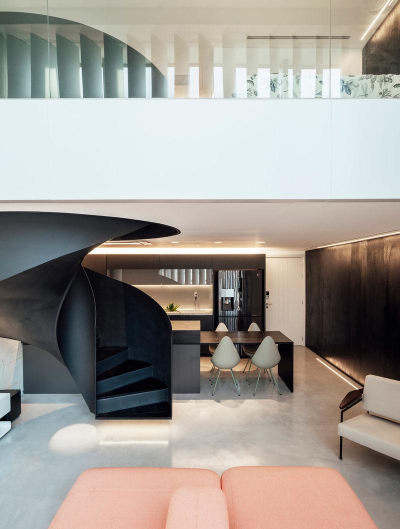 Best Modern Integrated Apartment Spaces Apartment Interior 400 x 300