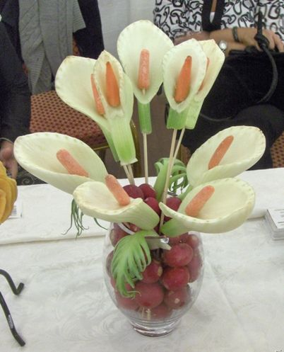 Edible glamour toronto fruit vegetable carvings food