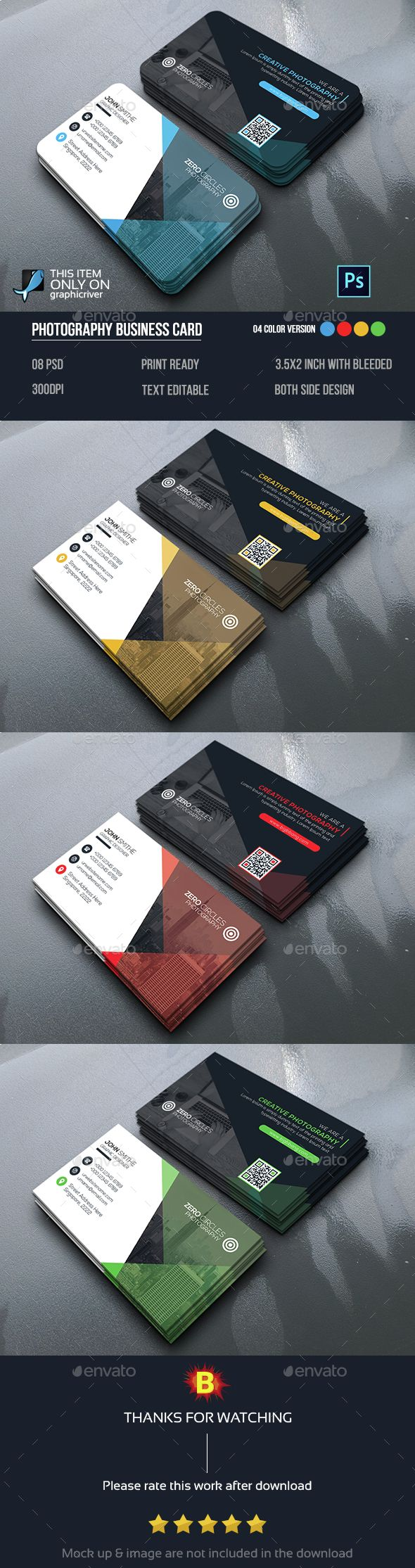 Business Card — Photoshop PSD #logo #print • Available here → https ...