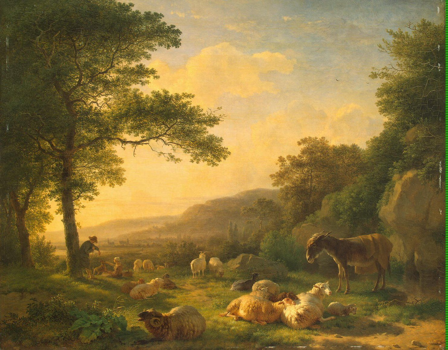 Landscape With A Flock Of Sheep Sheep Paintings Sheep Art Landscape Paintings