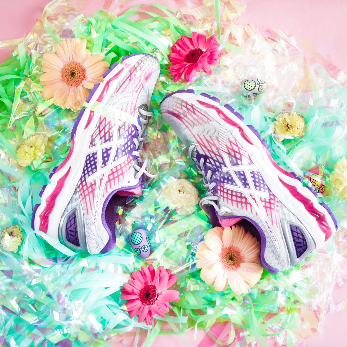 asics with flowers