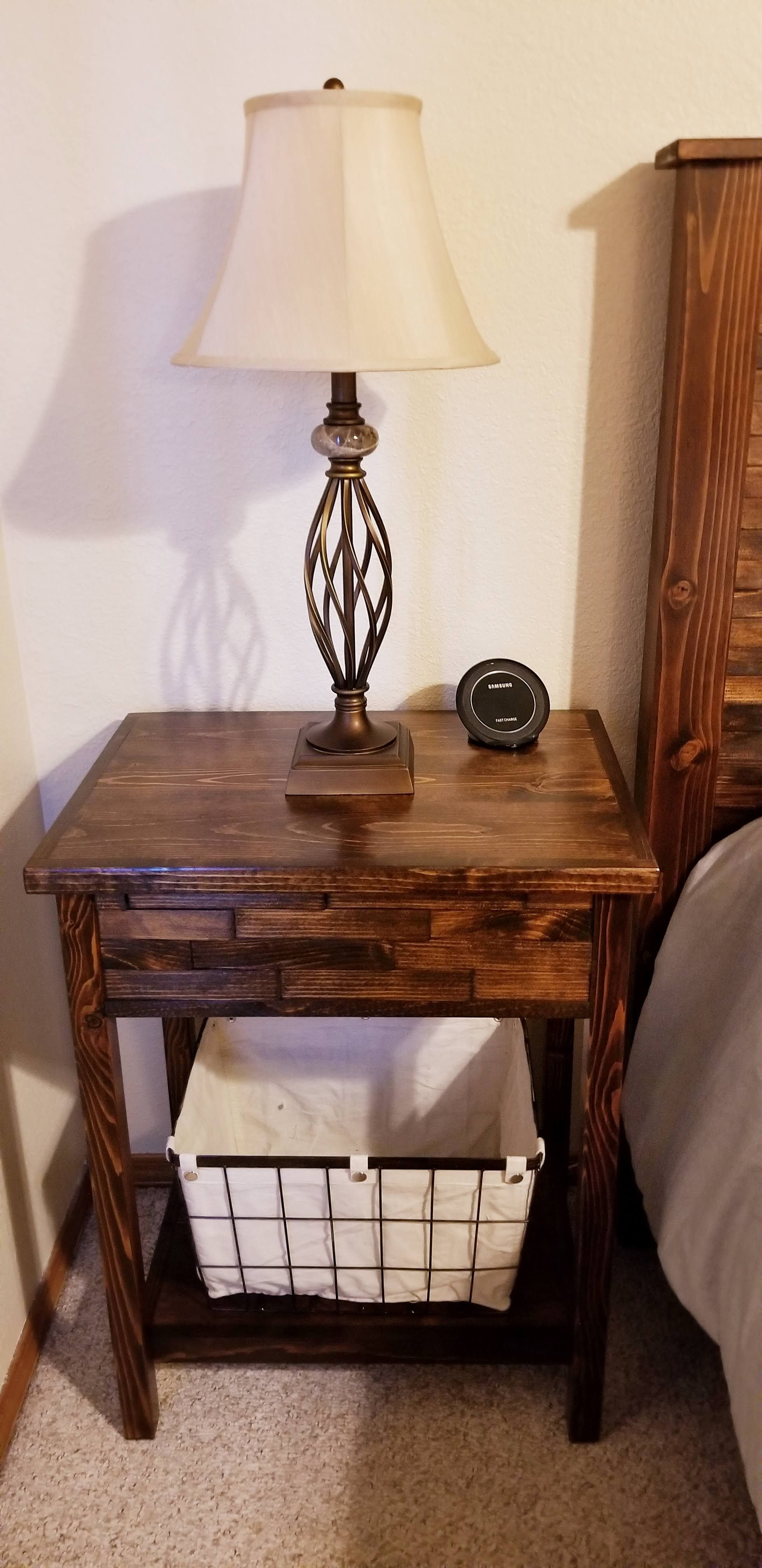 Custom Wood shim nightstand Bedroom set, Home decor