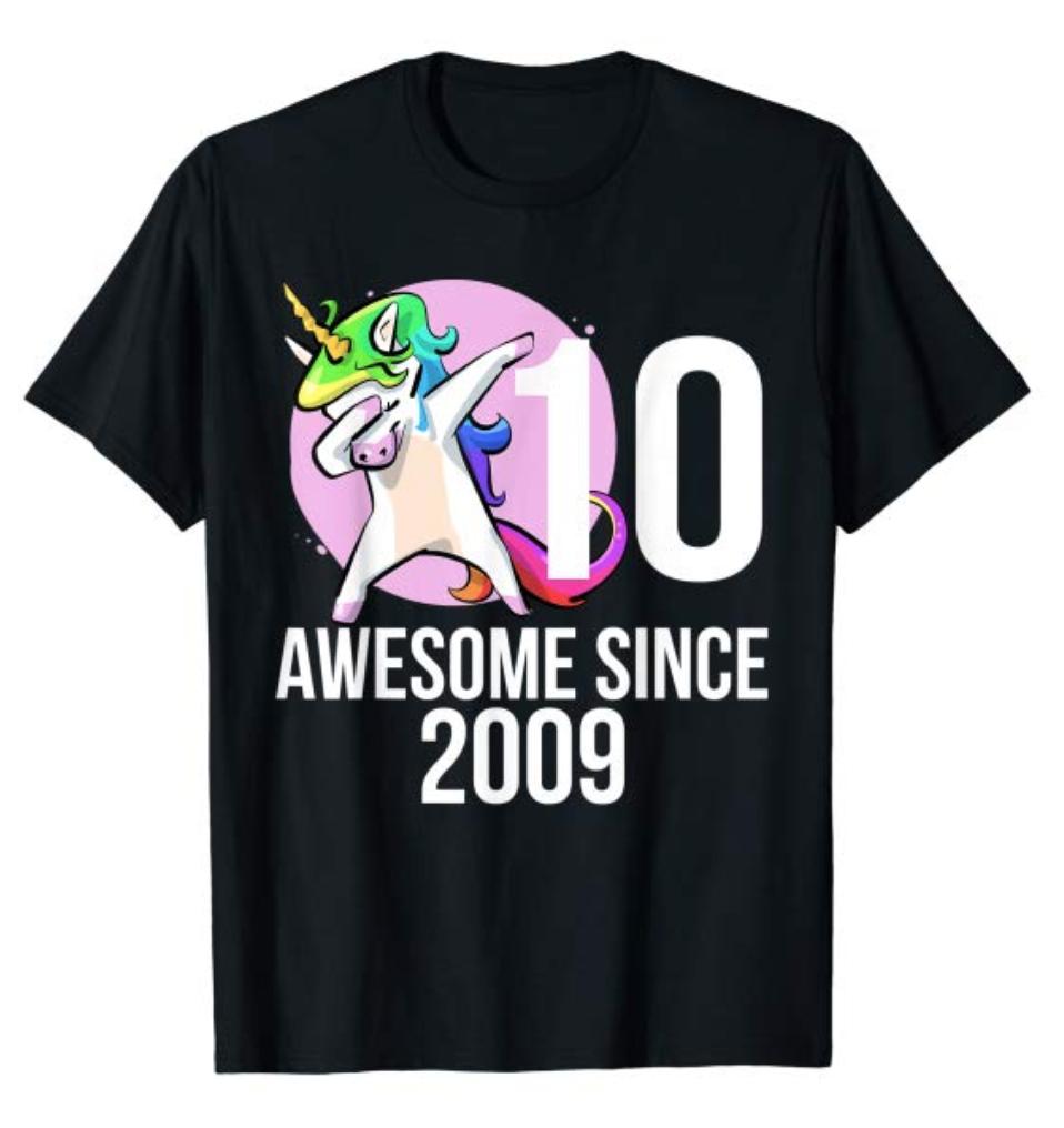 This 10th Birthday Tshirt Featuring Dabbing Unicorn Makes A Great