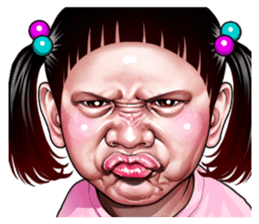 Angry Face Of Children Line Stickers Line Store Funny Face Drawings Angry Cartoon Face Angry Face