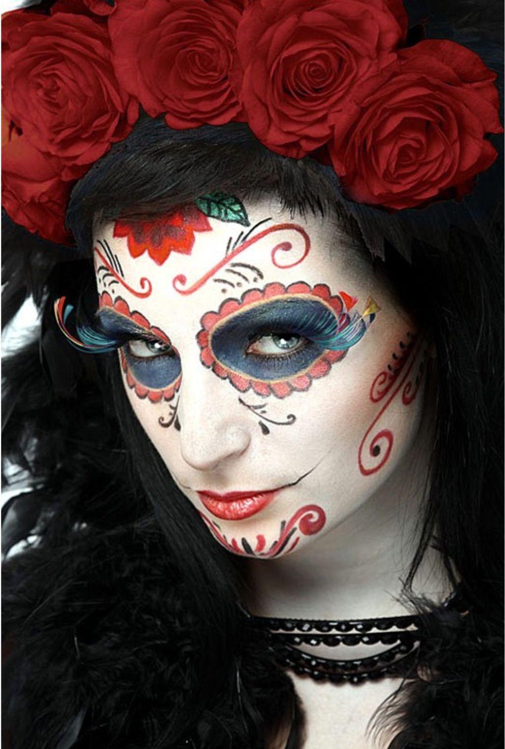 Fantasy Sugar skull makeup, Sugar skull girl, Day of the