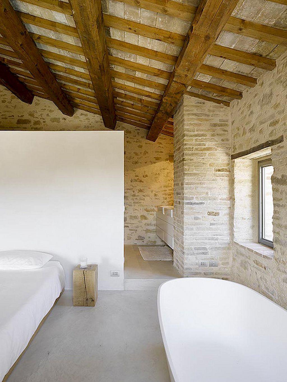 60 stylish farmhouse bathroom with brick wall decor ideas | brick