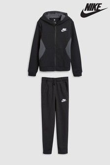 4dfc33f0a2c Black Nike Brushed Fleece Tracksuit | Kids fashion | Black nikes ...