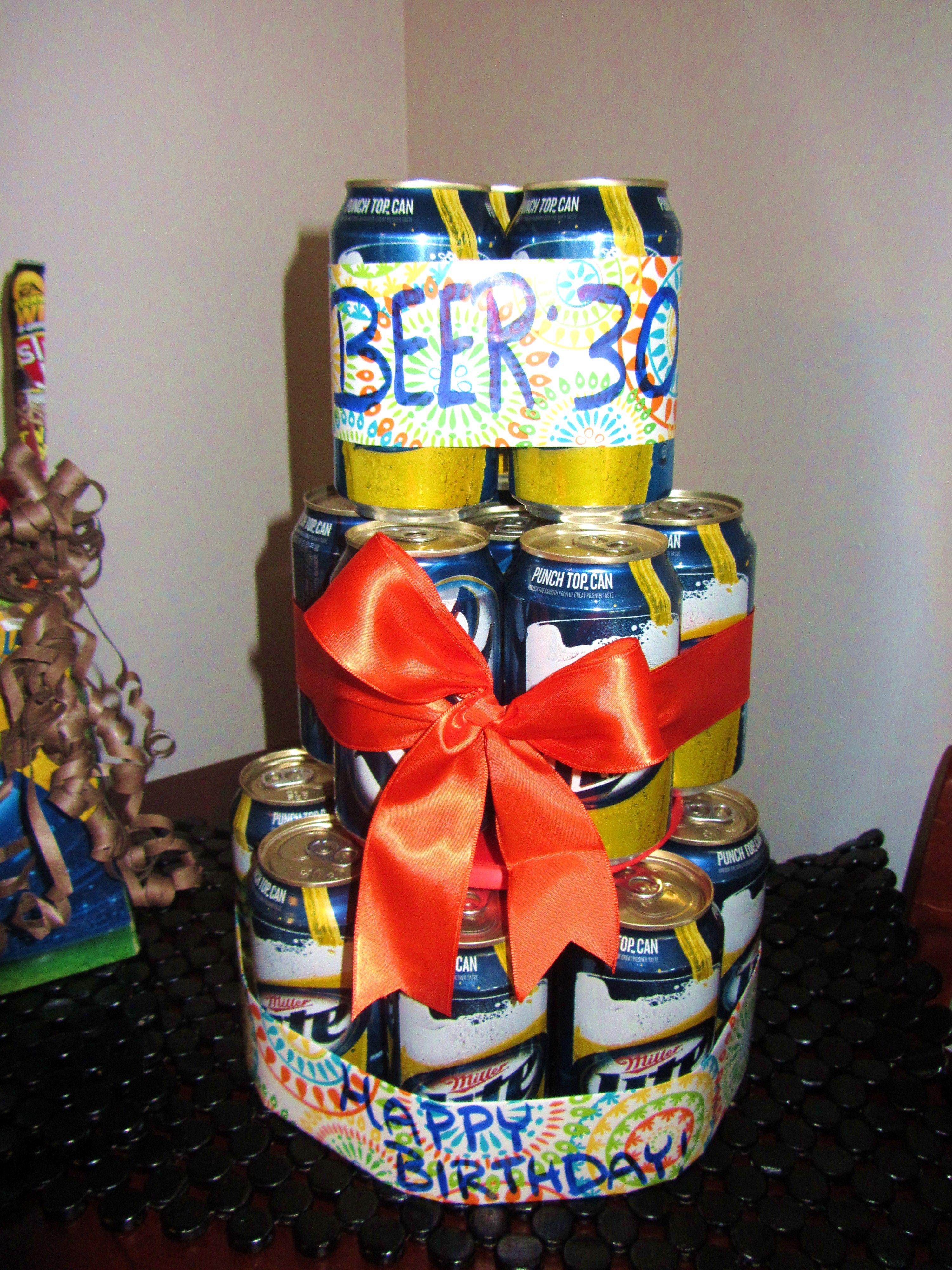 Beer30 birthday cake for 30th birthday 30 birthday