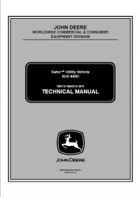 repair manual john deere gator utility vehicle xuv 850d technical rh pinterest com John Deere Repair Manuals Online Printable John Deere Manuals