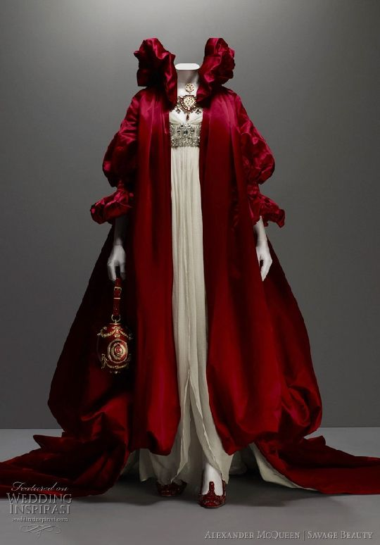4706f7f1b44 red alexander mcqueen wedding gown little red riding hood almost ...