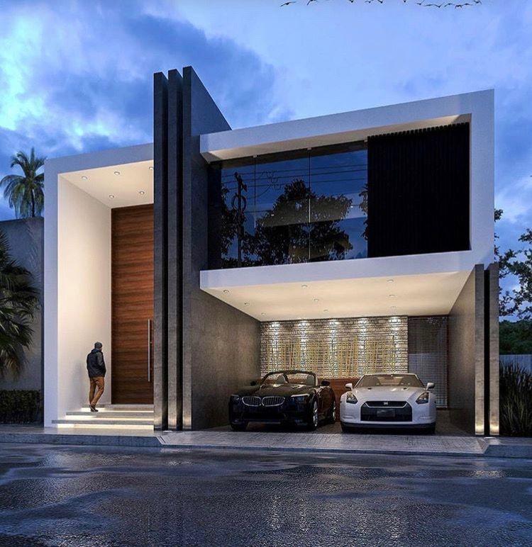 Pin de abdalla en houses plans pinterest fachadas for Casas residenciales minimalistas