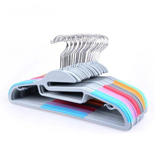 Amazon.com - perchas Ipow ABS Light-Weight antideslizante Durable Ropa que cuelga Orginazer Hook varios colores Perfecto para pantalones, vestido, chaqueta, ropa interior y camisa en Inicio, Set de 10 -