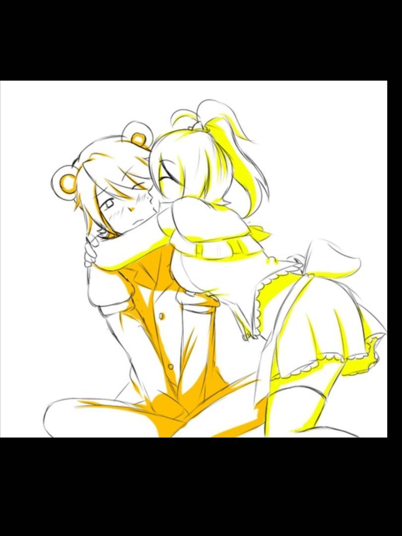Toy chica x fem mangle preview undertale plans by red - Kiss On Cheek Toy Freddy X Toy Chica