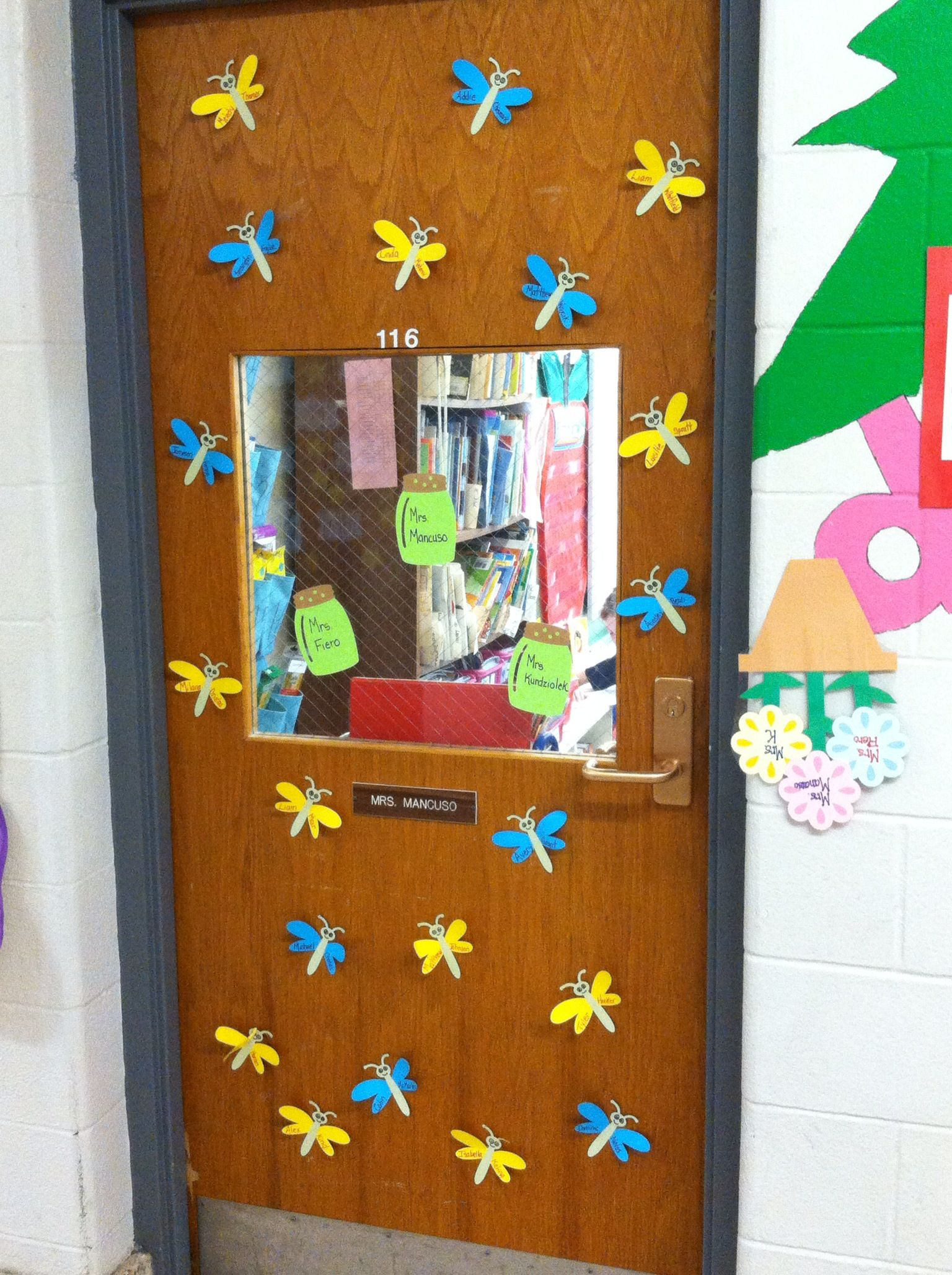 May Fireflies/Dragonflies Classroom door