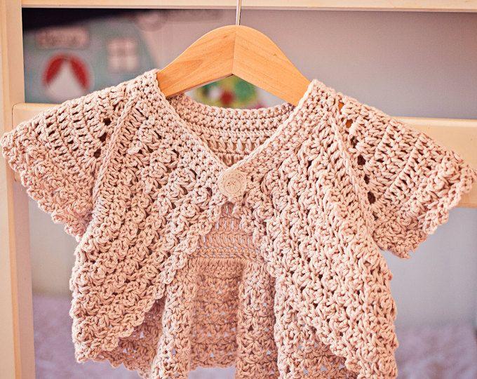 Crochet Shrug Cardigan Sweater Elbow Sleeve Crop Top