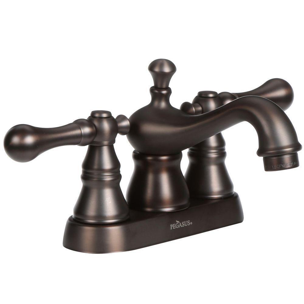 Pegasus 1100 Series 4-inch Centerset 2-Handle Bathroom Faucet in Oil ...