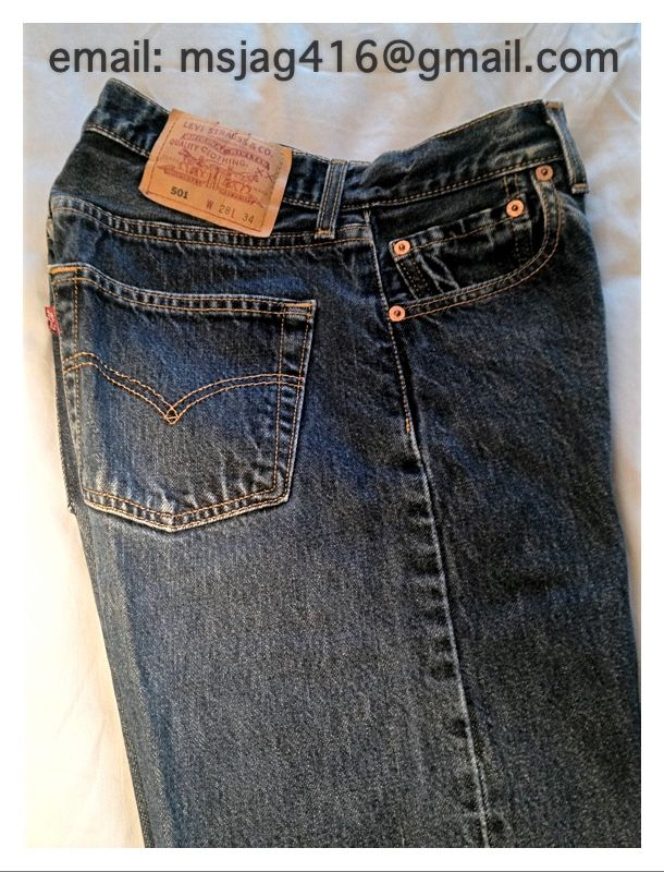 Levi's vintage women's Red Tab 501 jeans. Length 34, Waist 28 in denim. Pristine condition. $49.99 #style