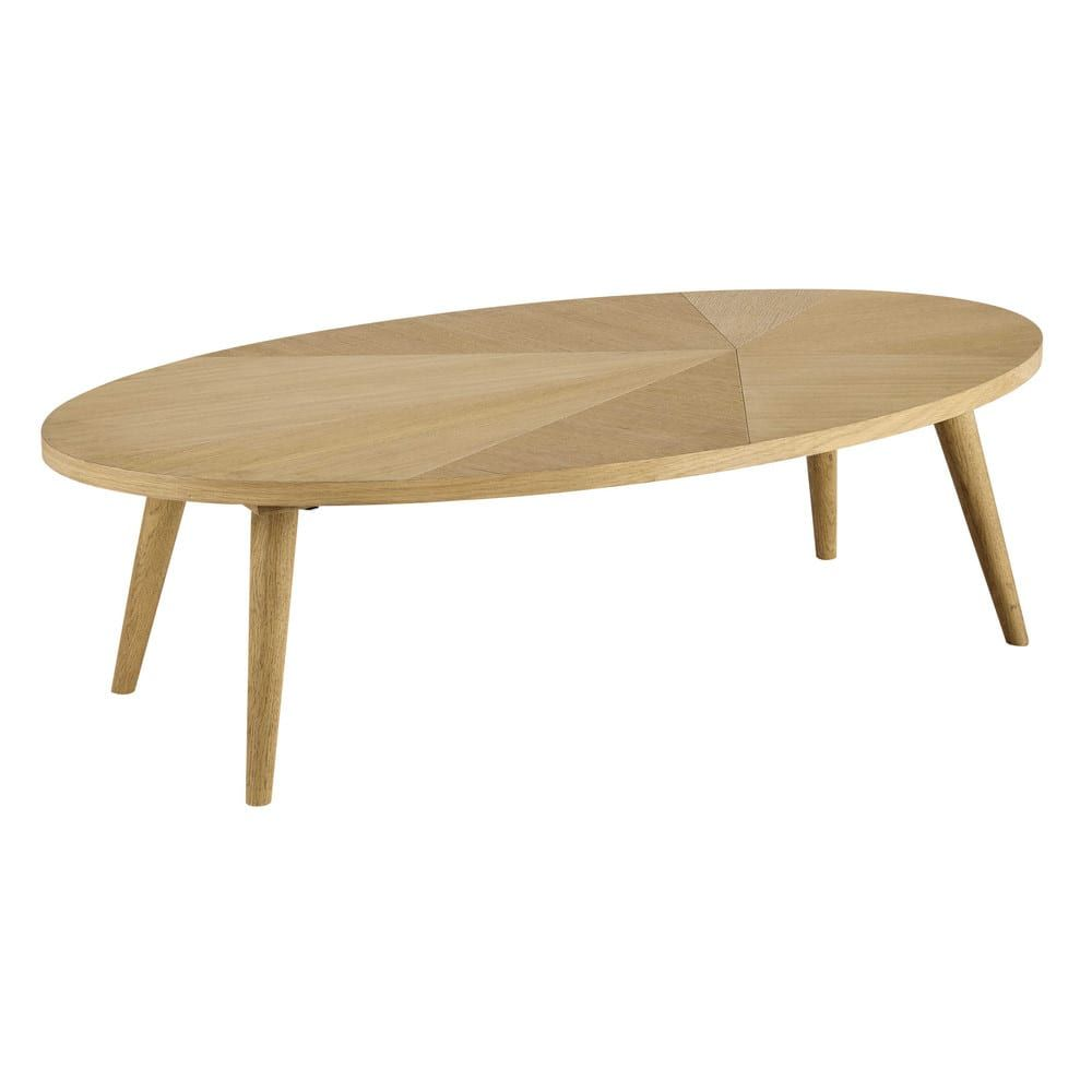 Table Basse Style Scandinave In 2019 Oak Coffee Table