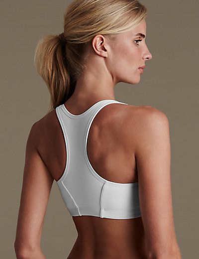 f0bcf15ed1d Extra High Impact Zip Front Non-Wired Sports Bra A-G