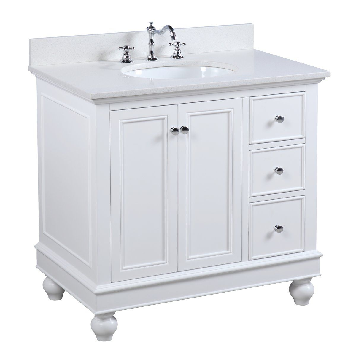 The Bella Undeniable Classic Beauty This Bathroom Vanity Set Features High End Furniture Grade White Vanity Bathroom Small Bathroom Storage Trendy Bathroom