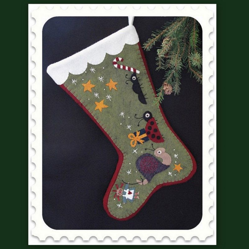 Delivering the Gifts Christmas Stocking Finished Piece READY TO SHIP ...