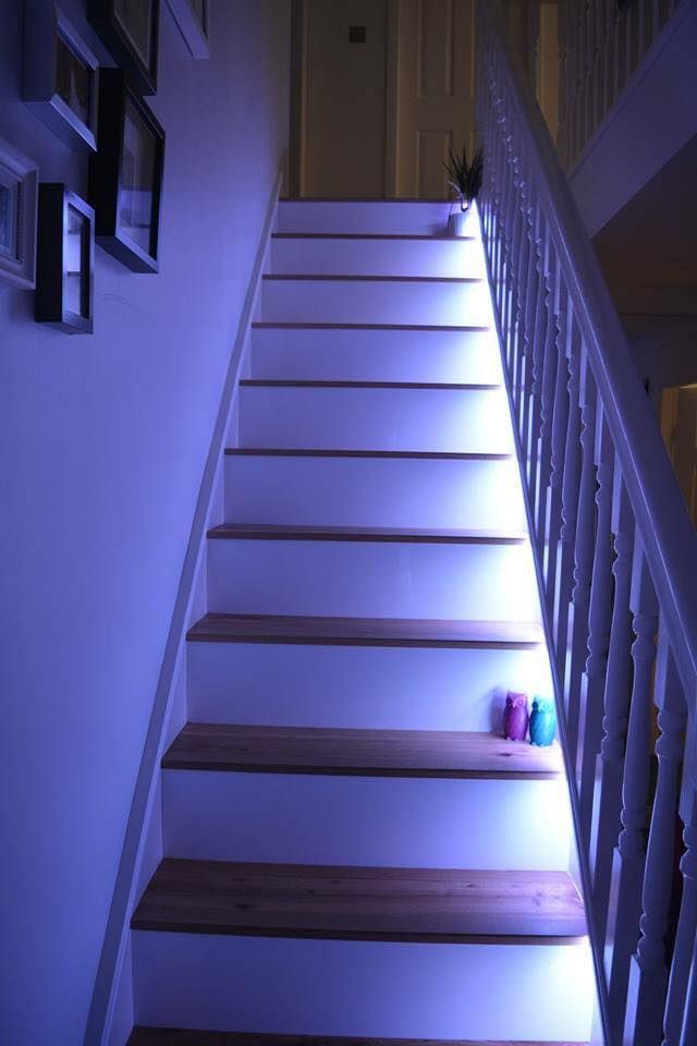 Light For Stairs Stairway Ideas Led Pendant Wainscoting