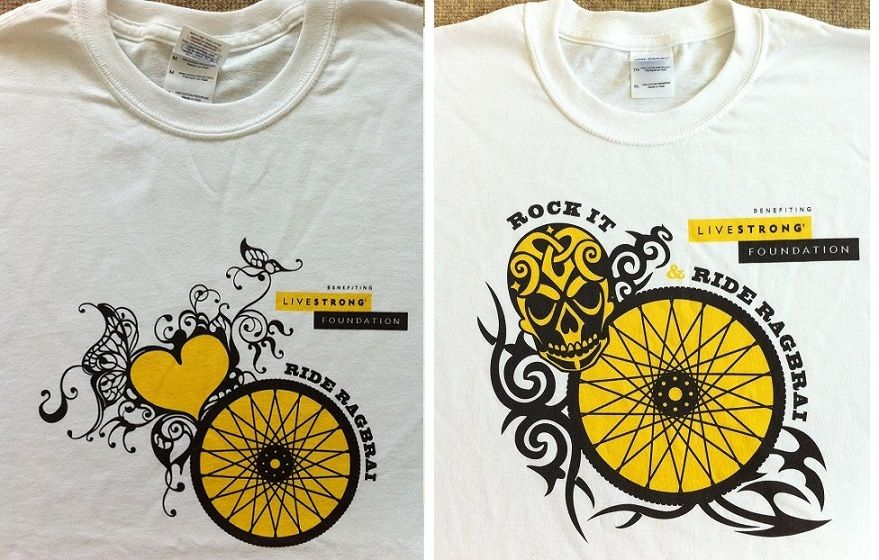 Just a gentle reminder for those of you who were interested in ordering a RAGBRAI shirt (benefiting LIVESTRONG): please get in touch with me as soon as possible regarding the type of shirt and size, so I can get those orders in. Thanks a million from Shu and I.