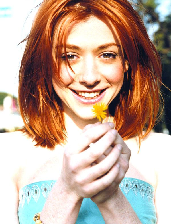 Haircolor Alyson Hannigan Willow From Buffy Alyson Hannigan