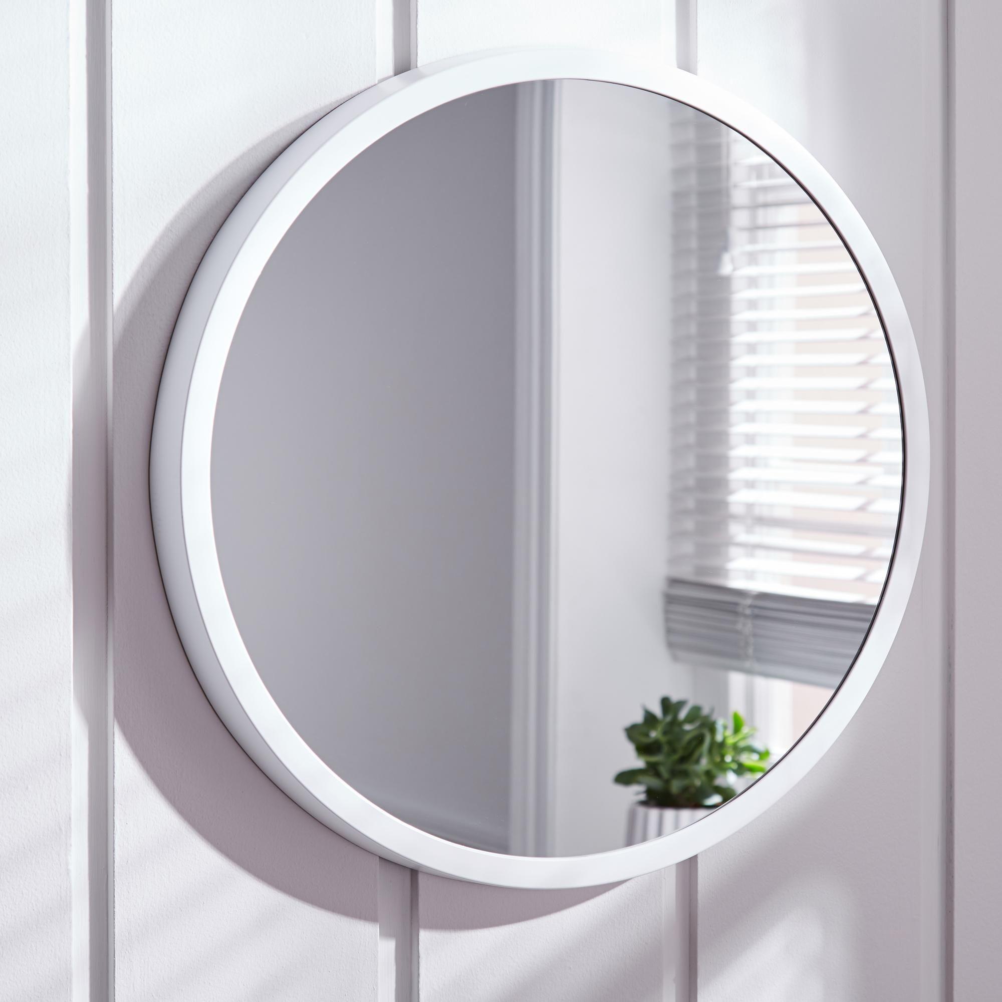 Elements White Round Wall Mirror Round Wall Mirror Small Mirrors Mirror Dunelm