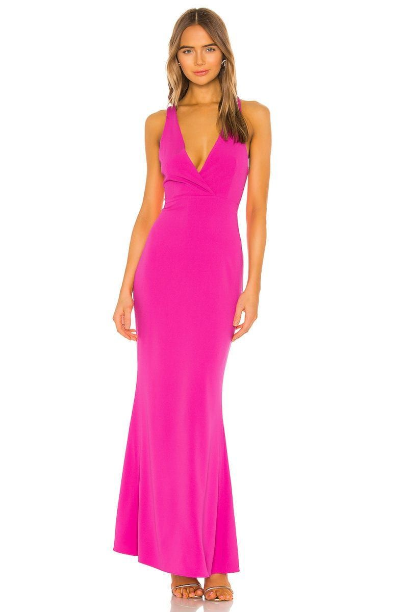 What To Wear To A Destination Wedding 15 Wedding Guest Dresses I M Obsessed With For 2019 2020 Jetse Hot Pink Prom Dress Pink Formal Dresses Fuschia Dress [ 1200 x 794 Pixel ]