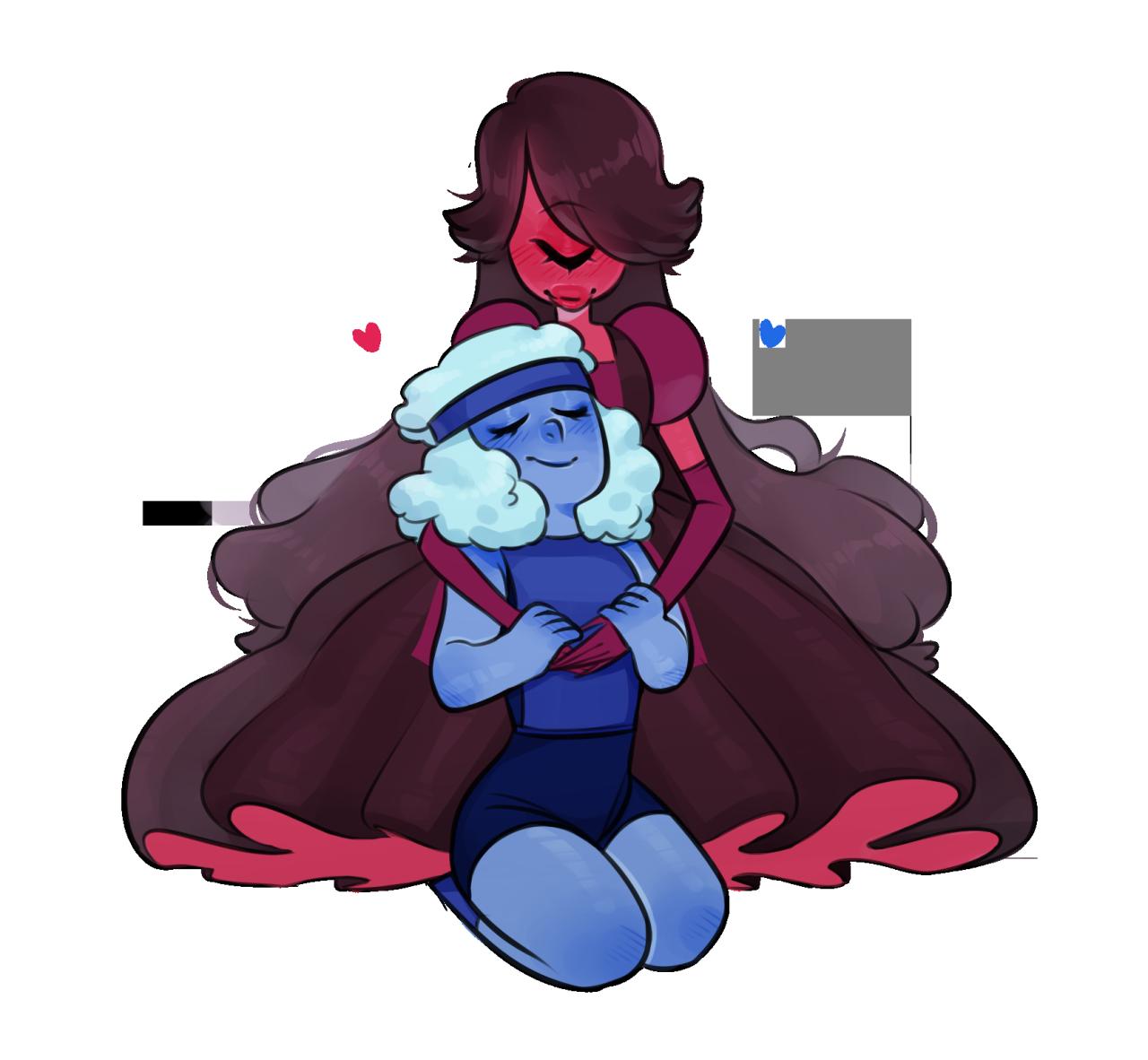 Red blue steven universe steven universe universe - Ruby and sapphire su ...