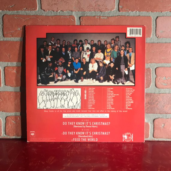 Band Aid Do They Know It S Christmas Vinyl Record 12 Inch Etsy Christmas Vinyl Holiday Music Band Aid